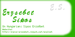 erzsebet sipos business card